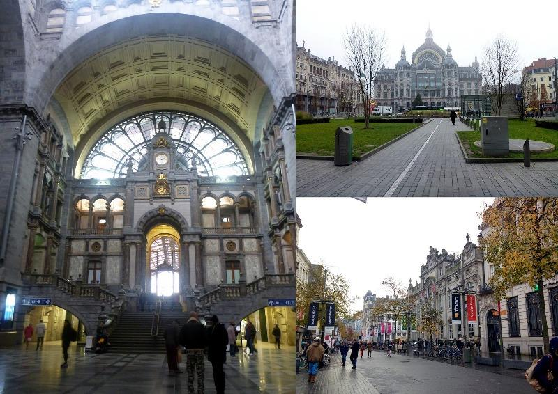 Beautiful Antwerp Central Station and the main shopping street - photo © SV Taipan