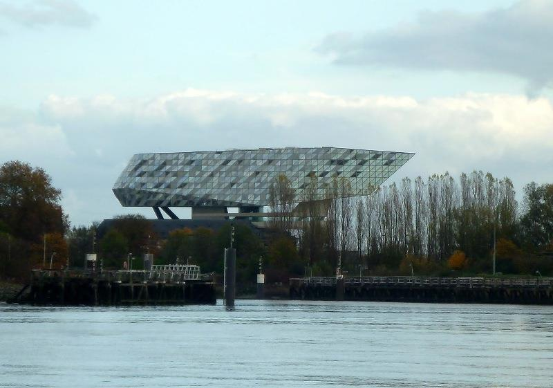 New Port Building. Glitters like a diamond. Antwerp was a big diamond center. - photo © SV Taipan