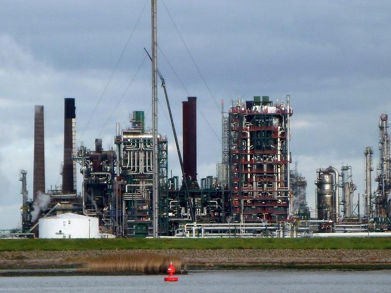 Petrochemical on the Scheld - photo © SV Taipan