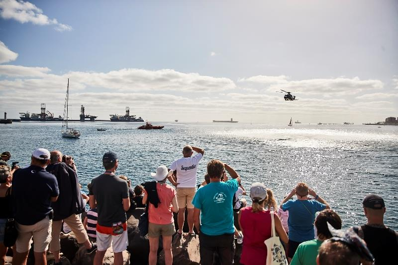 Watching the demonstration from on shore - photo © WCC / James Mitchell Photography