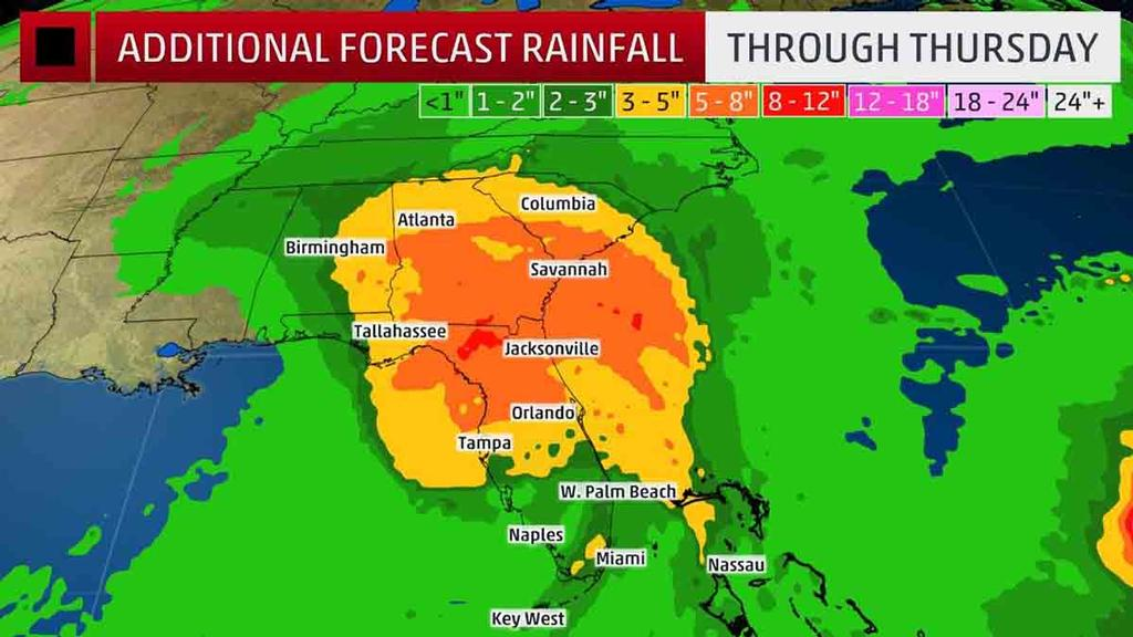 Rainfall Forecast - Localized higher amounts are possible. © The Weather Channel