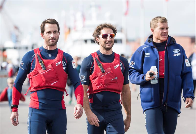 Skipper and Team Principal, Ben Ainslie, Wing Trimmer, Paul 'CJ' Campbell-James and Runner, David 'Freddie' Carr at Louis Vuitton America's Cup World Series Gothenburg - photo © Lloyd Images