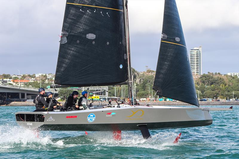 The AC9F is the 9m foiling monohull that the teams will race in the Youth America's Cup - photo © Andrew Delves