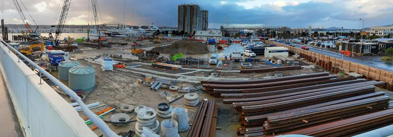Orams/Site 18 superyacht maintenance facility under construction - America's Cup - July 7, 2020 - photo © Richard Gladwell / Sail-World.com