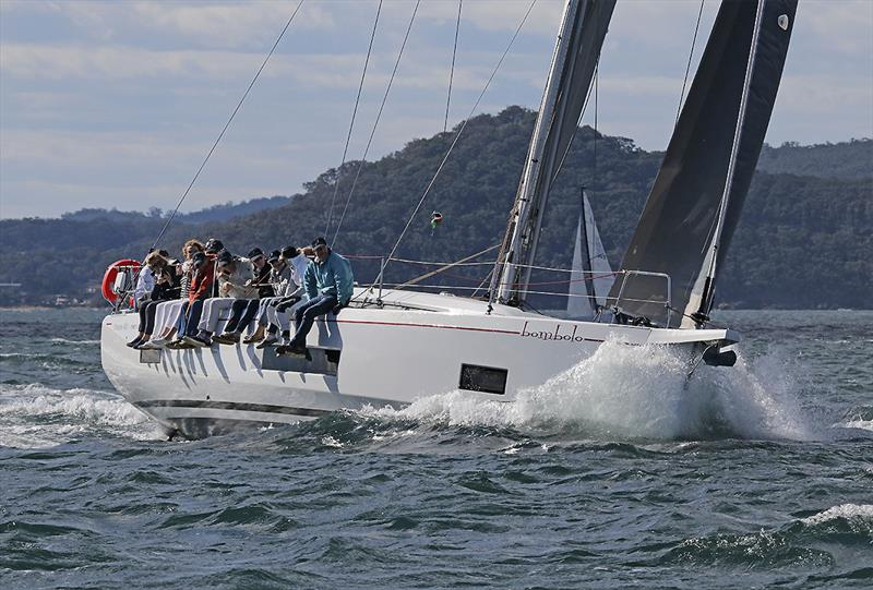 Bombolo carving her away around the course. - photo © John Curnow