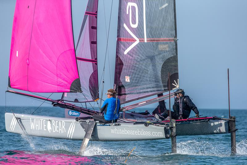 First finishers in the 2018 Round the Island Race