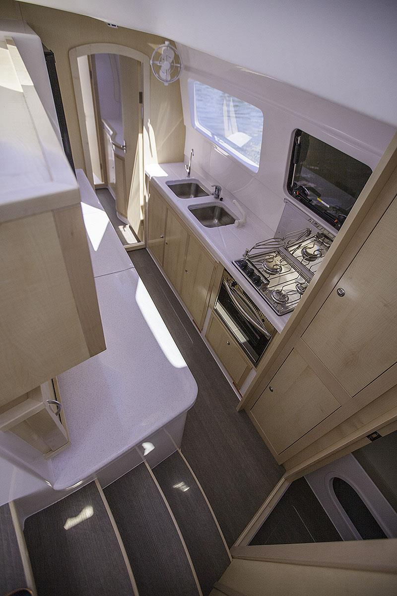 The Galley of the Seawind 1260 - photo © John Curnow