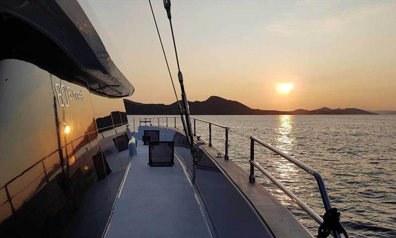 Sunreef 80 Bundalong - Croatia sunset - photo © Sunreef Yachts