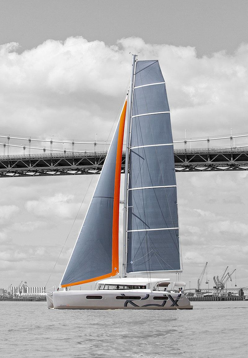 Excess 15 demonstrates the high aspect ratio of the sail plan purposely selected to ensure Excess cats deliver a true sailing experience. - photo © Christophe Launay