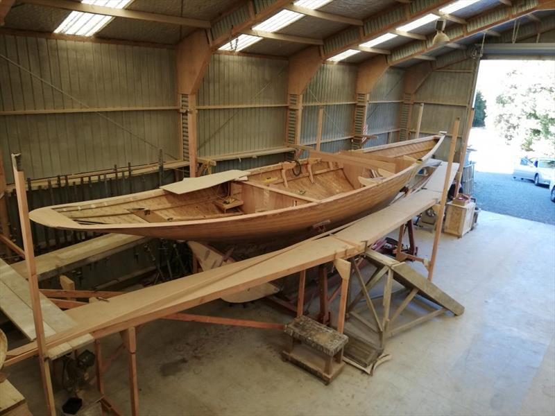 Bulk heads in place as Ida shows off her sweet sheerlines prior to deck beams being fitted - photo © Classic Yacht Charitable Trust