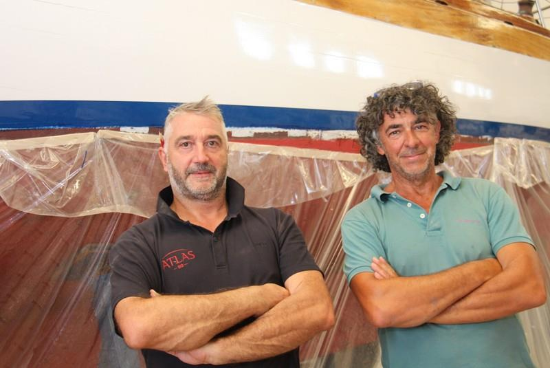Shipwrights Paolo Skabar (left) and Odilo Simonit (right) - photo © Paolo Maccione