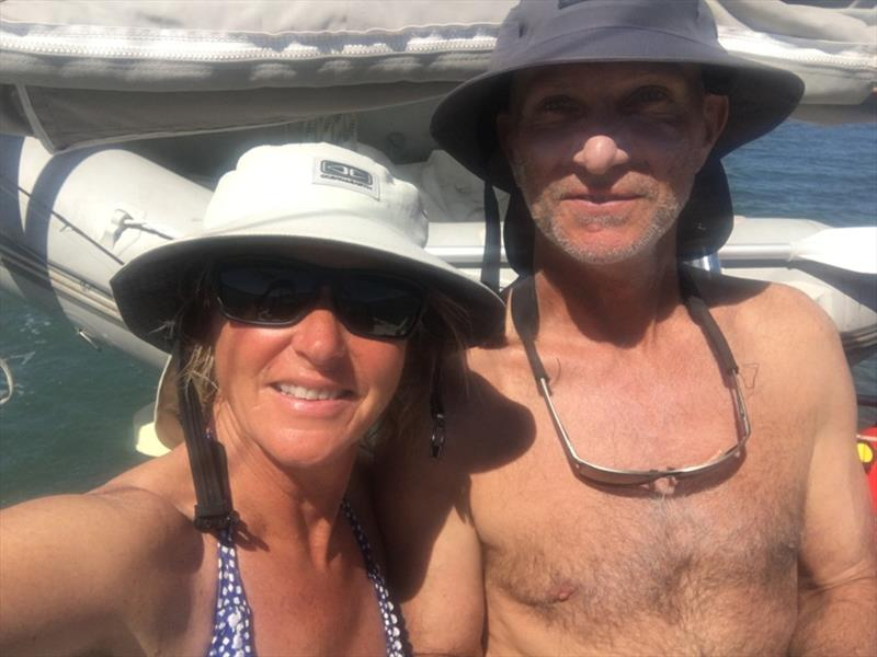 In cruising mode – happy grotty yachties - photo © Kristen Anderson