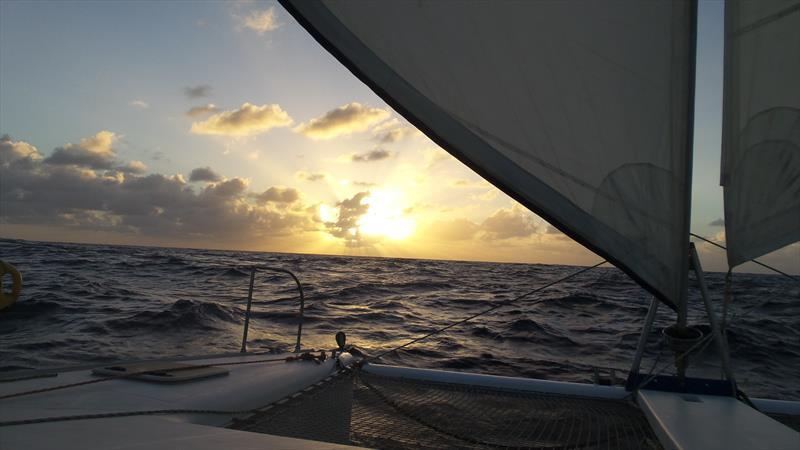 Sunset at sea - photo © Mission Ocean