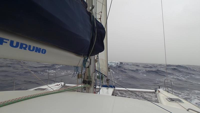 One of the greyer days during the crossing - photo © Mission Ocean