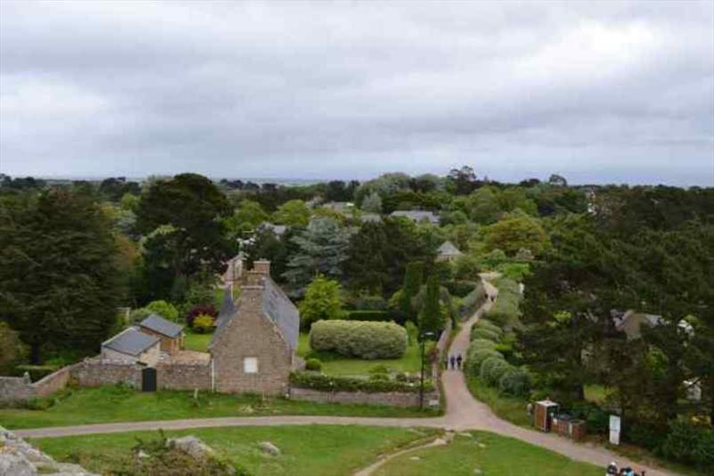 The view from St Michels Church looking down on the island - photo © SV Red Roo