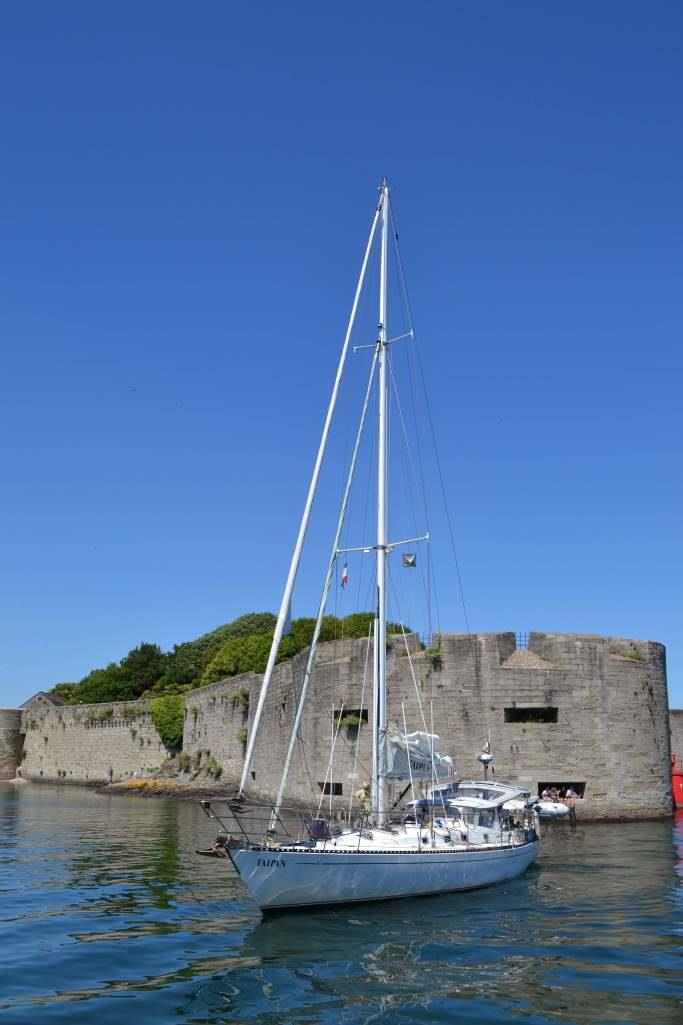 Taipan arriving at Concarneau in front of the old walled town - photo © Maree & Phil