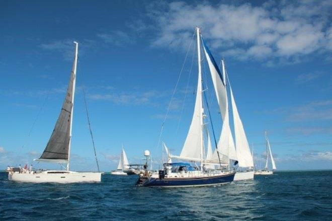 2018-19 World ARC fleet depart Fiji - photo © World Cruising