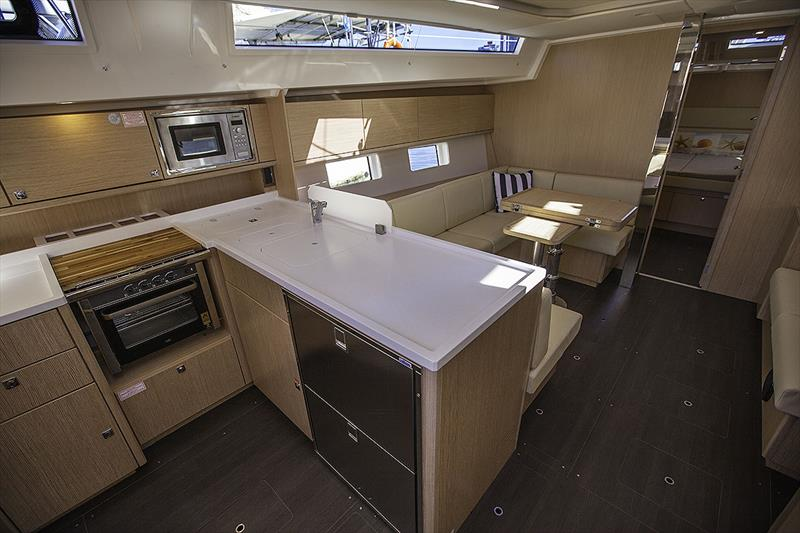 Galley and Main Saloon of the new Bavaria C45 Style Version photo copyright John Curnow taken at Southport Yacht Club and featuring the Cruising Yacht class