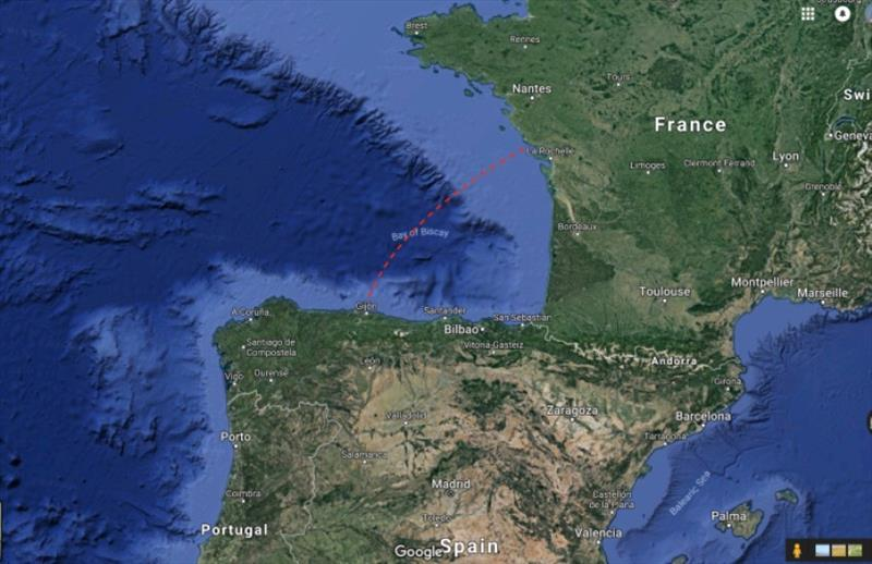France to Spain, Sunday 15th July 07:00am to Tuesday 17th July 09:00am 50 hours and 250 nautical miles - photo © SV Red Roo