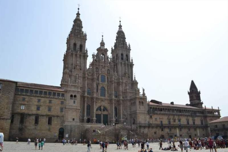 Santiago de Compostela Cathedral the end of the Camino Pilgrim Trail - photo © SV Red Roo