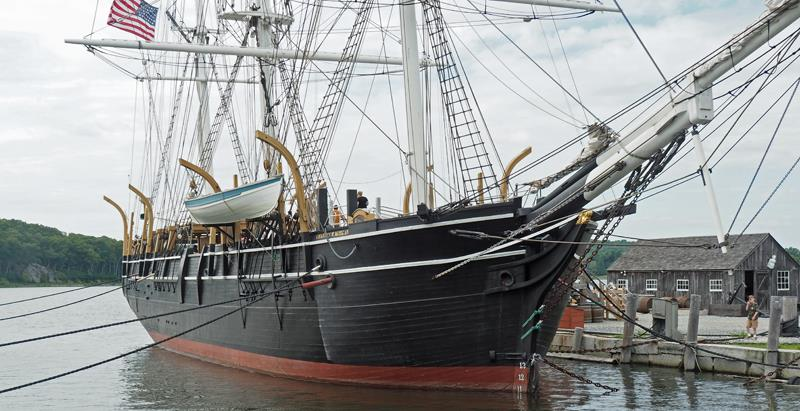 The Charles W. Morgan berthed at Mystic - photo © SV Crystal Blues