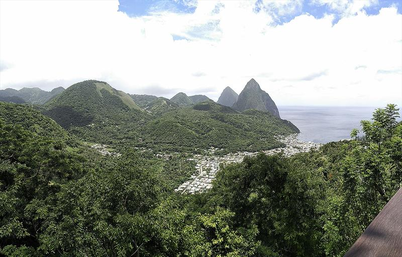 The Pitons and Soufriere Bay - photo © Mission Océan