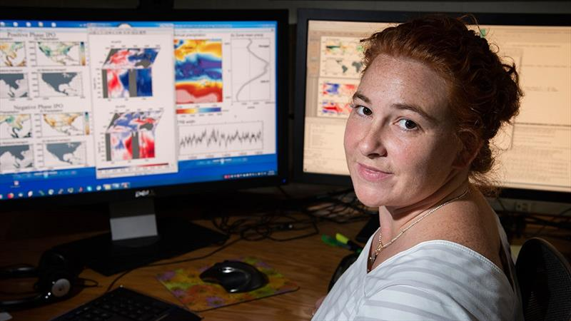 Caroline Ummenhofer, climate modeler at the Woods Hole Oceanographic Institution - photo © Thomas Kleindinst, Woods Hole Oceanographic Institution