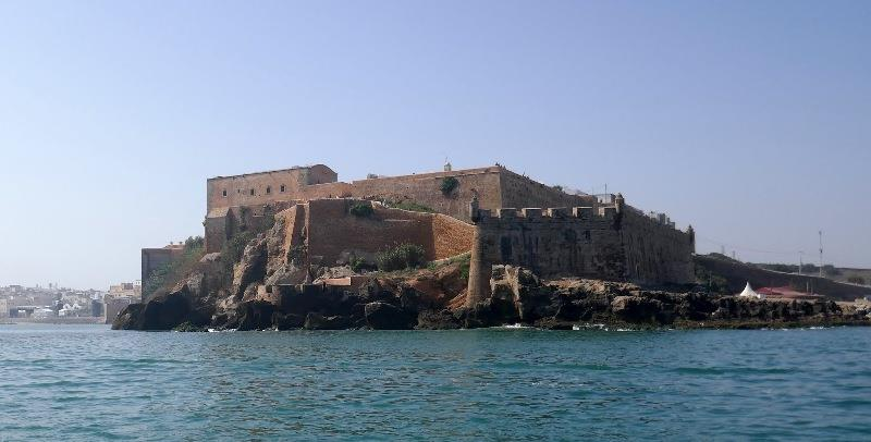Entering Rabat past this spectacular fort - photo © SV Taipan