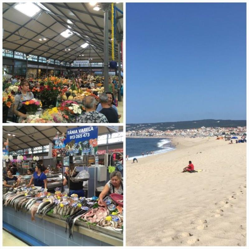 Markets and Beach at Figueira da Foz - photo © SV Red Roo