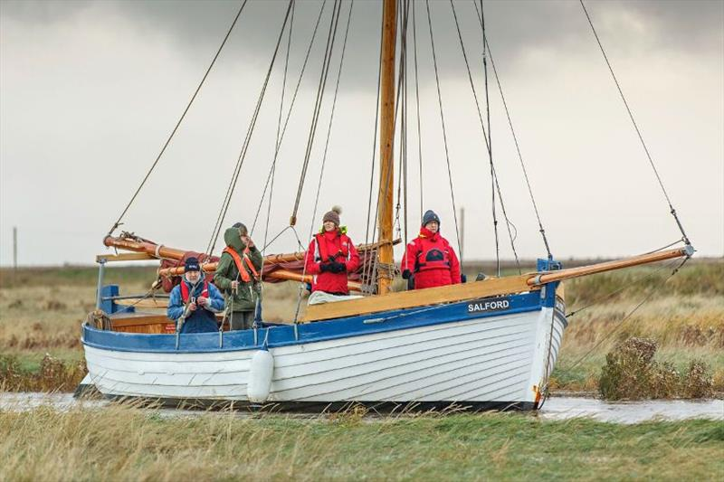 Salford sailing into Cley Harbour - photo © Chris Taylor Photo