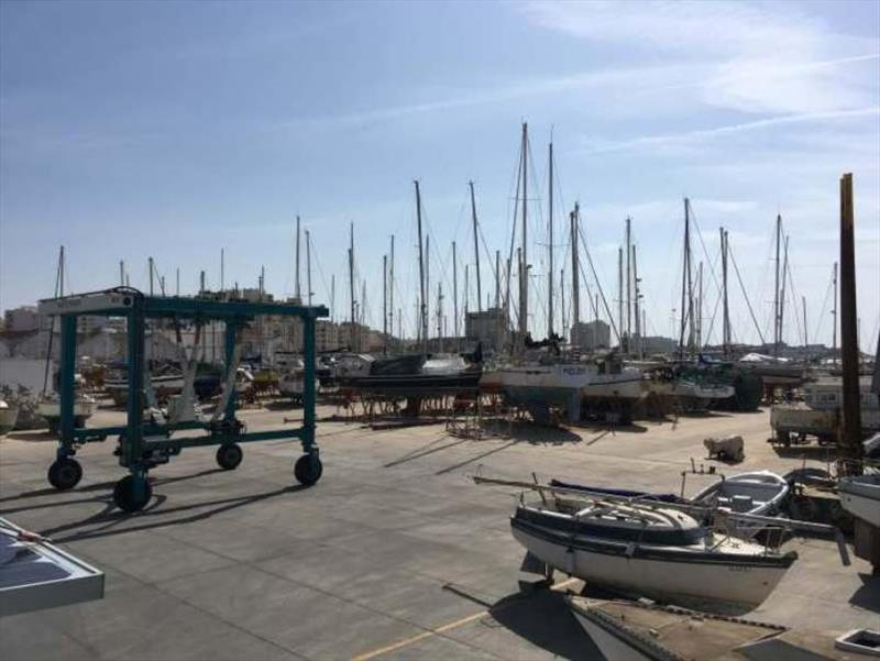 Faro Boat Yard photo copyright SV Red Roo taken at  and featuring the Cruising Yacht class