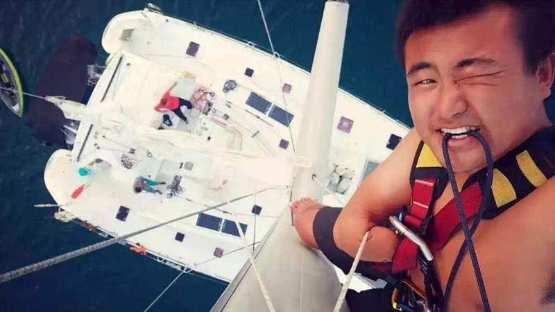 Chinese sailor named Xu Jingkun round-the-world Lagoon journey photo copyright Lagoon Asia Pacific taken at  and featuring the Cruising Yacht class