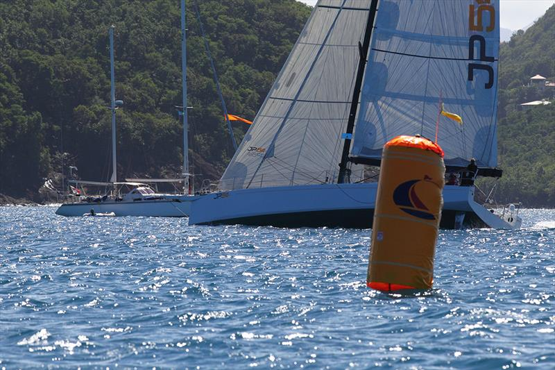 JP54 'The Kid' (FRA) cross the ARC Finish Line to take Line Honours - ARC 2018 - photo © Tim Wright