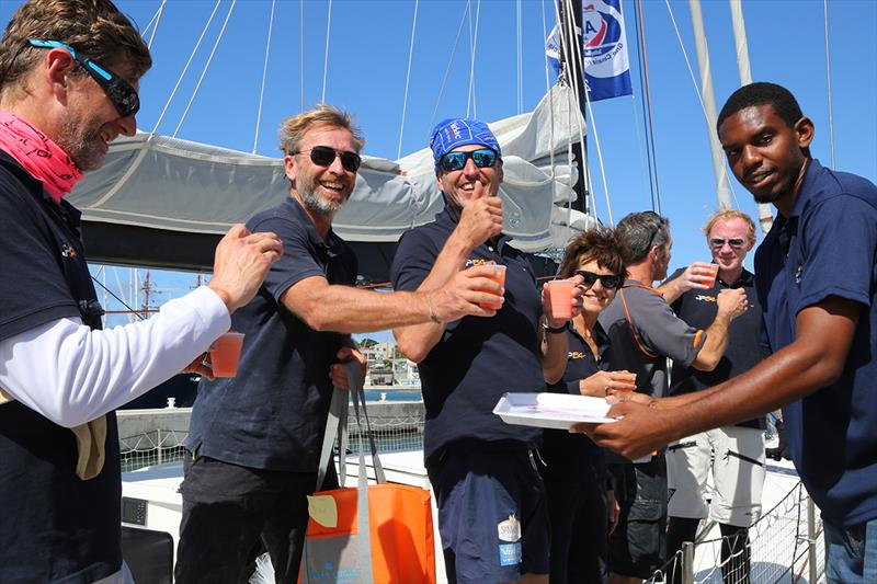 A welcomed rum punch to celebrate arriving in Saint Lucia - ARC 2018 - photo © Tim Wright