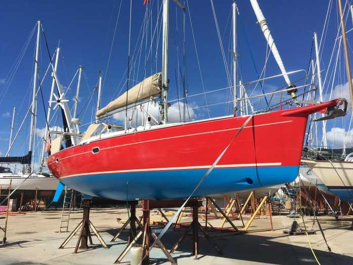 Red Roo Haul Out and Paint Work, Faro Portugal September 2018 photo copyright SV Red Roo taken at  and featuring the Cruising Yacht class