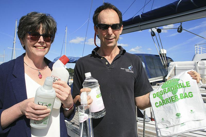 Fruit preserving first class sailing - Jeanette Jones and Charlie Tulloch Principal First Class Sailing - photo © Xan Phillips
