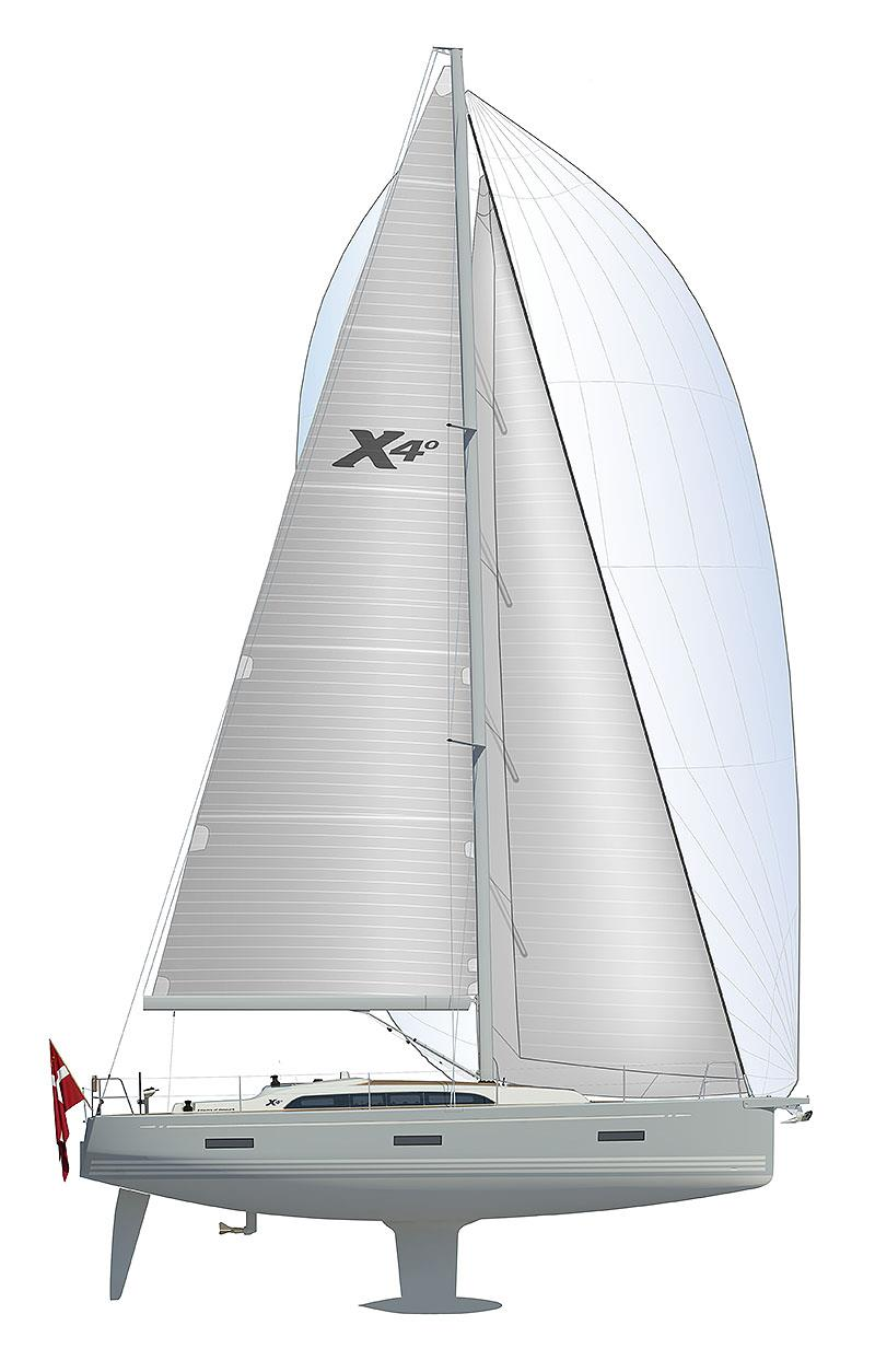 X4.0-Sailplan photo copyright X-Yachts taken at  and featuring the Cruising Yacht class