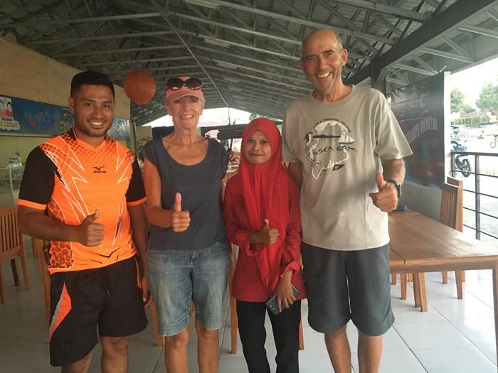 Bob and Judy with Anna and her husband in Pulau Morotai. photo copyright Bob & Judy Howison taken at  and featuring the Cruising Yacht class