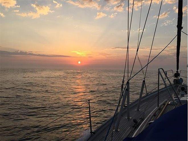 ARC Channel Islands - Beowulf - Channel sunset photo copyright World Cruising taken at  and featuring the Cruising Yacht class