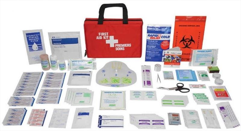 Sample first aid kit. - photo © Rob Murray