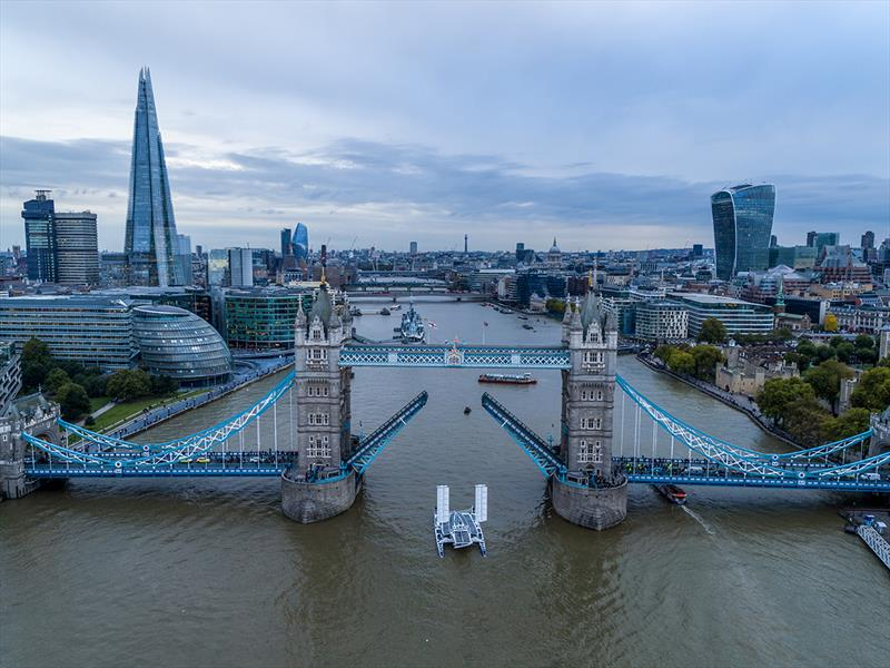 Energy Observer arrives in London on its 47th stopover - photo © Skypower