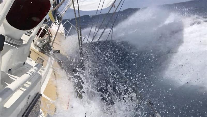 Powering along during the incredible Figure Eight Voyage photo copyright Randall Reeves taken at  and featuring the Cruising Yacht class