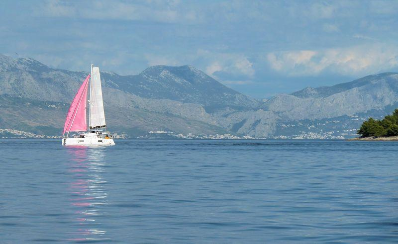 Cruising in Croatia - Split mainland from off Brac Island photo copyright Liz Potter taken at  and featuring the Cruising Yacht class