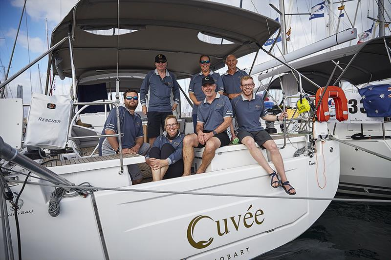 ARC  Rally yacht 'Cuvee' with skipper Rob Greenwell and his Tasmanian photo copyright World Cruising Club / James Mitchell taken at  and featuring the Cruising Yacht class