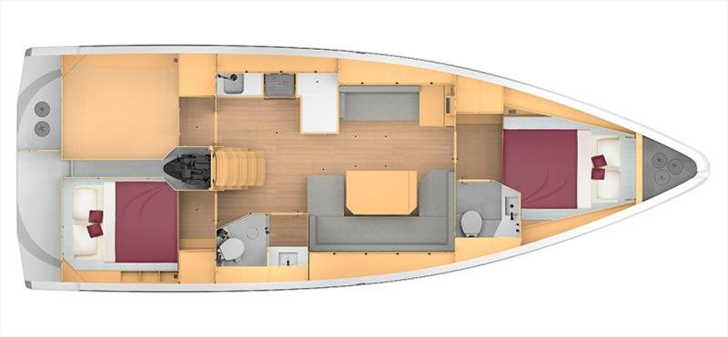 Bavaria C42 layout photo copyright Bavaria Yachts taken at  and featuring the Cruising Yacht class