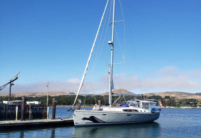 Docked in Bodega Bay, Sonoma. photo copyright Kevin and Carla Nash taken at  and featuring the Cruising Yacht class