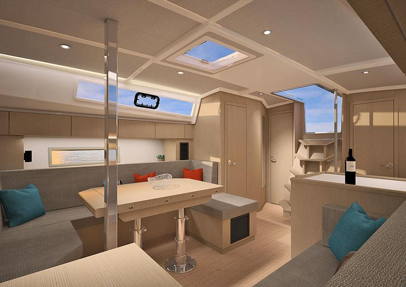 Main Saloon of the very new Bavaria C42 - photo © Bavaria Yachts