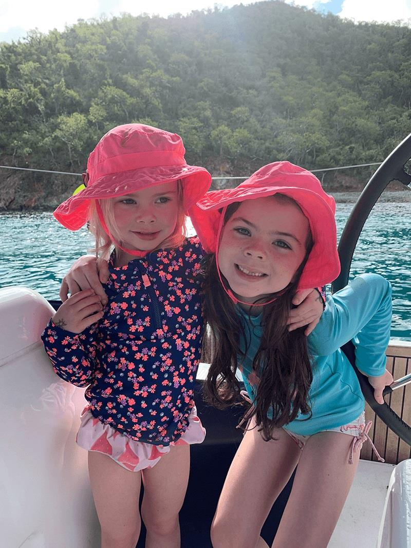 The girls had a blast in each new place we moored. photo copyright Catherine Guiader taken at  and featuring the Cruising Yacht class