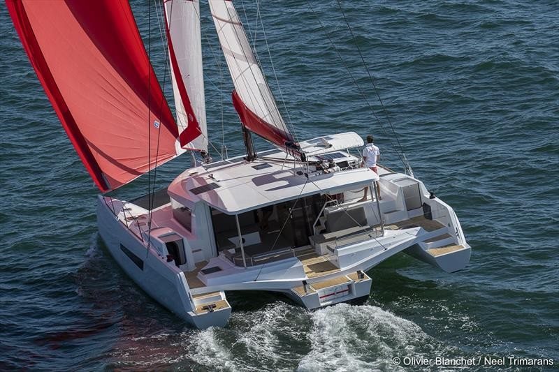The new NEEL 47 trimaran has been awarded 2020 Multihull of the Year. © Kate Elkington