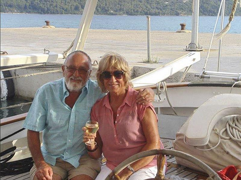 Robin and Helen Lamb and the Ionian Sea - photo © Robin Lamb